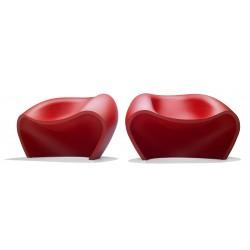 Chauffeuse de détente LOVELY coloris rouge