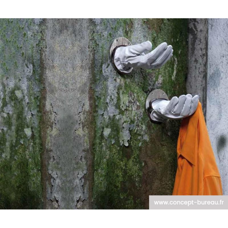 Porte manteaux ou objets MAINS utilisation porte manteaux