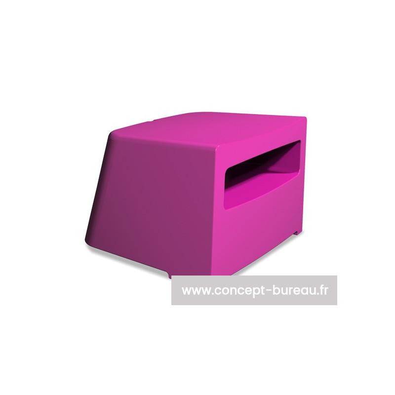 Pouf d'accueil KARLA pouf coloris fuchsia - non disponible