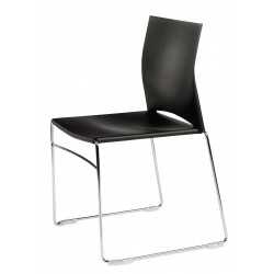 Chaise polypro MELODIE coloris noir