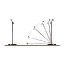 Système de pieds pliants -Table ronde pliante