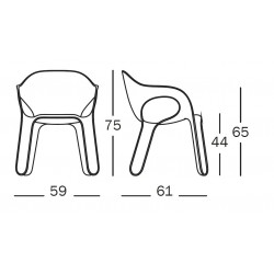 Dimensions de la chaise EASY CHAIR