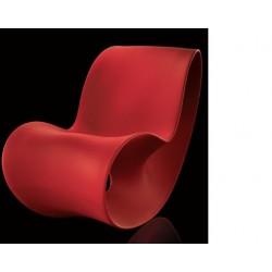 Chauffeuse de détente VOIDO de coloris rouge