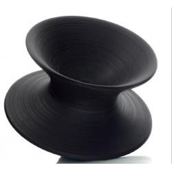 Chauffeuse de détente SPUN de coloris Noir