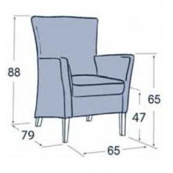 Dimensions du fauteuil d'accueil
