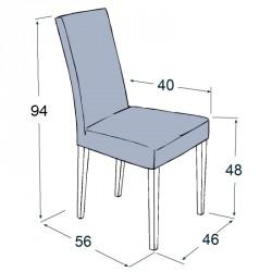 Dimensions de la chaise Sammeva