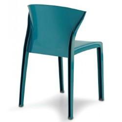 Chaise en polypropylène NORDIQUE de coloris Bleu Pacifique