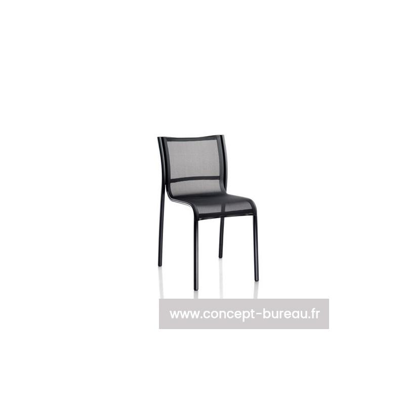 Chaise empilable extérieur PASO DOBLE CHAIR version noir