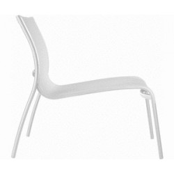 Chaise de détente extérieur PASO DOBLE LOW CHAIR sans accoudoirs version Blanc