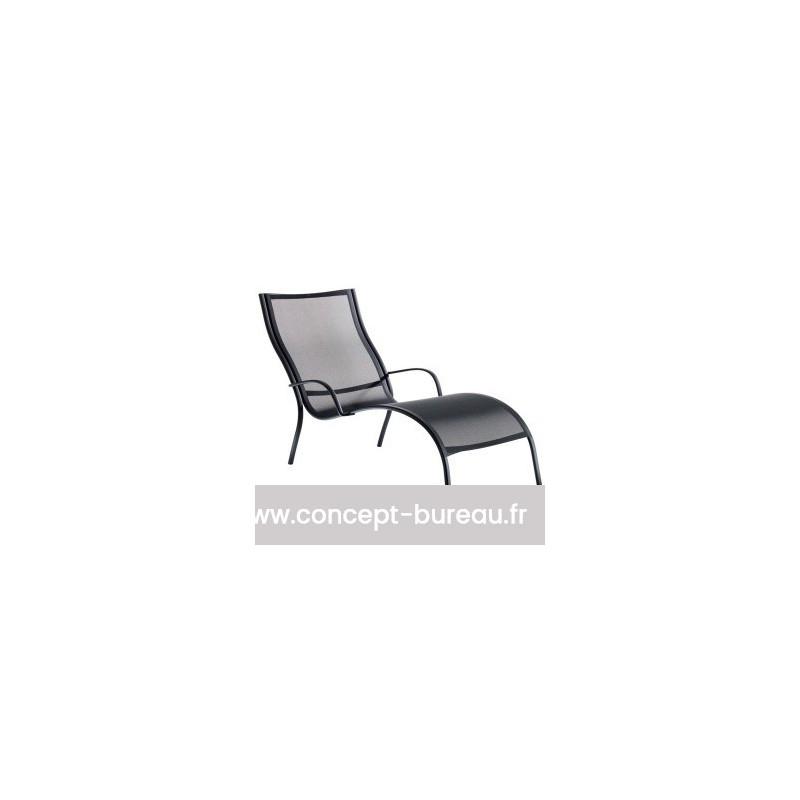 Chaise de longue PASO DOBLE coloris Noir