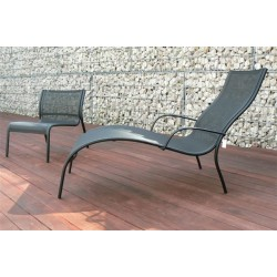 Chaise de longue PASO DOBLE d'ambiance coloris Noir