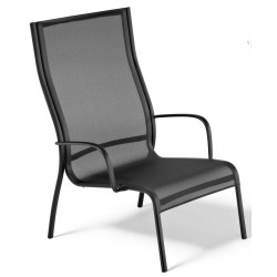 Fauteuil de relaxation PASO DOBLE LOW CHAIR version noir