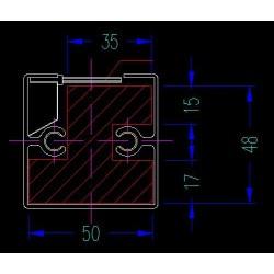 Colonne passe-câbles Wire croquis intérieur modèle simple