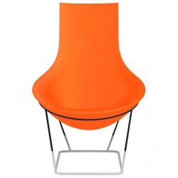 Fauteuil polypropylène TOM YAM Orange
