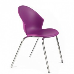 Chaise coque en polypro MILES