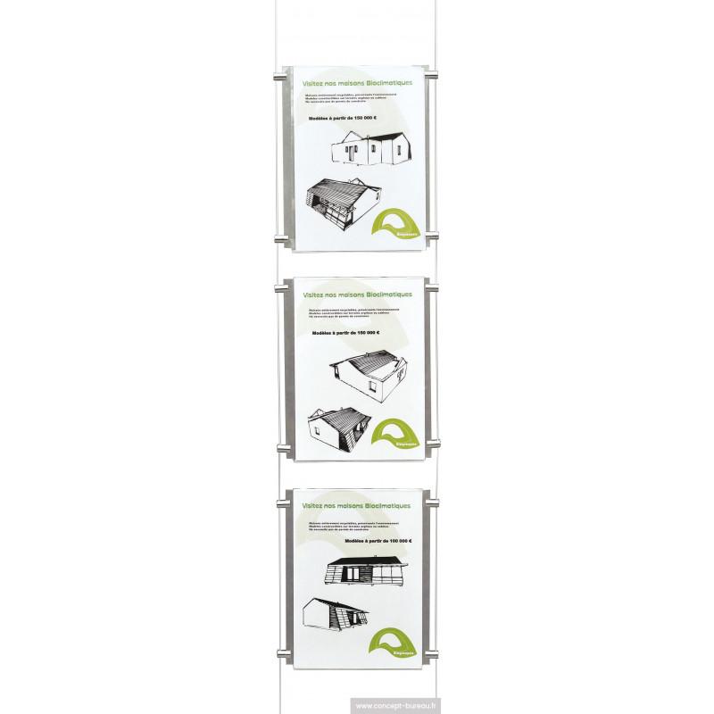Système d'affichage câblé 3 visuels