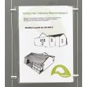 Porte-visuel pour système d'affichage câblé