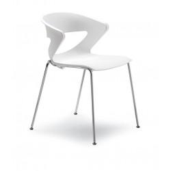 Lot de 4 chaises en polypro KICCA