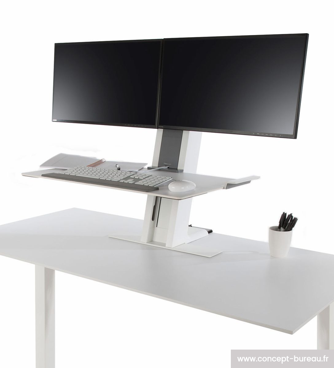Support Cran Et Clavier Ergonomique Assis Debout Quickstand # Meuble Tv Accroche Ecran