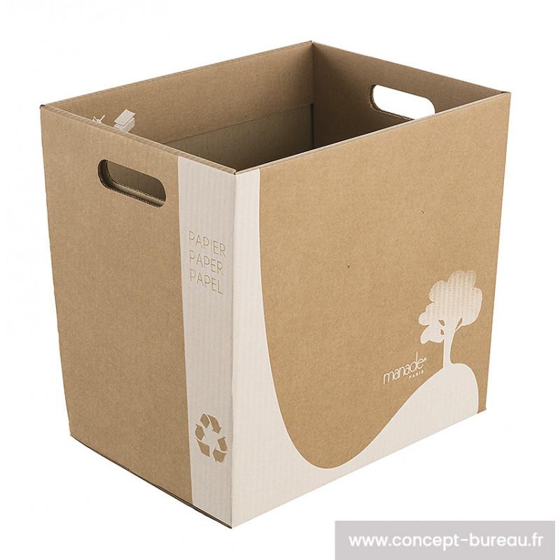Corbeilles à papiers 100% recyclé - lot de 20