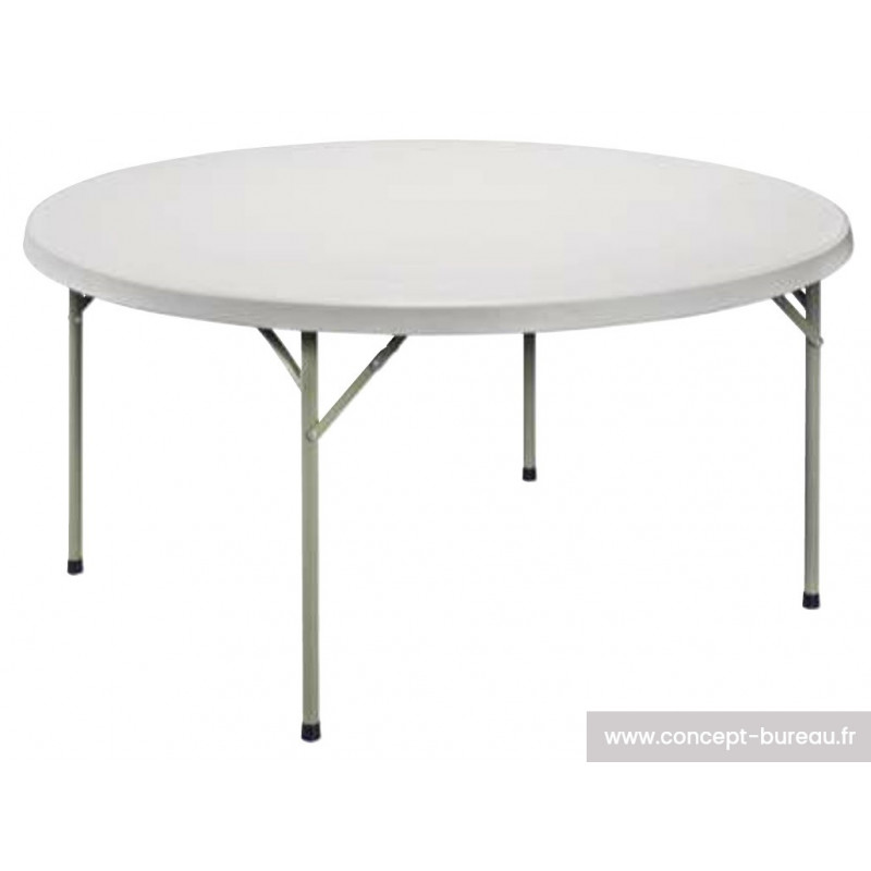 Table ronde pliante ultra l g re opla for Pietement table ronde