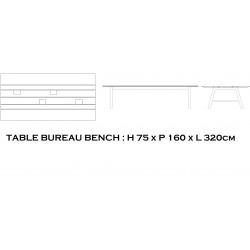 Bureau bench coworking GAÏA