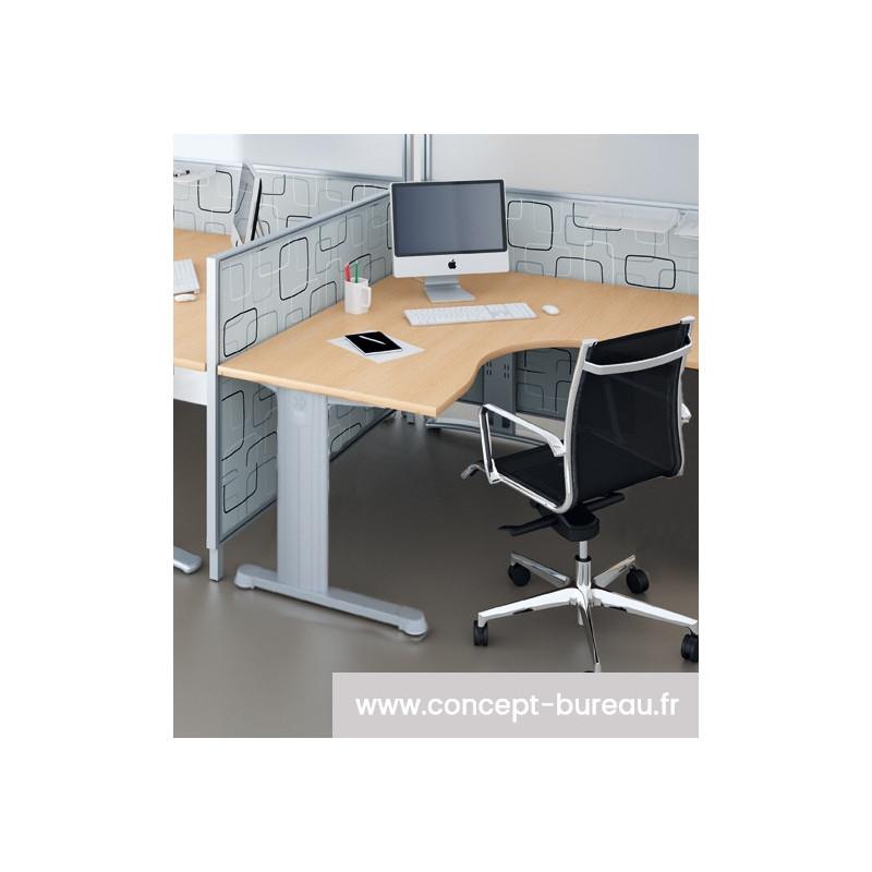 Bureau individuel compact symétrique 90°  PRIMUM