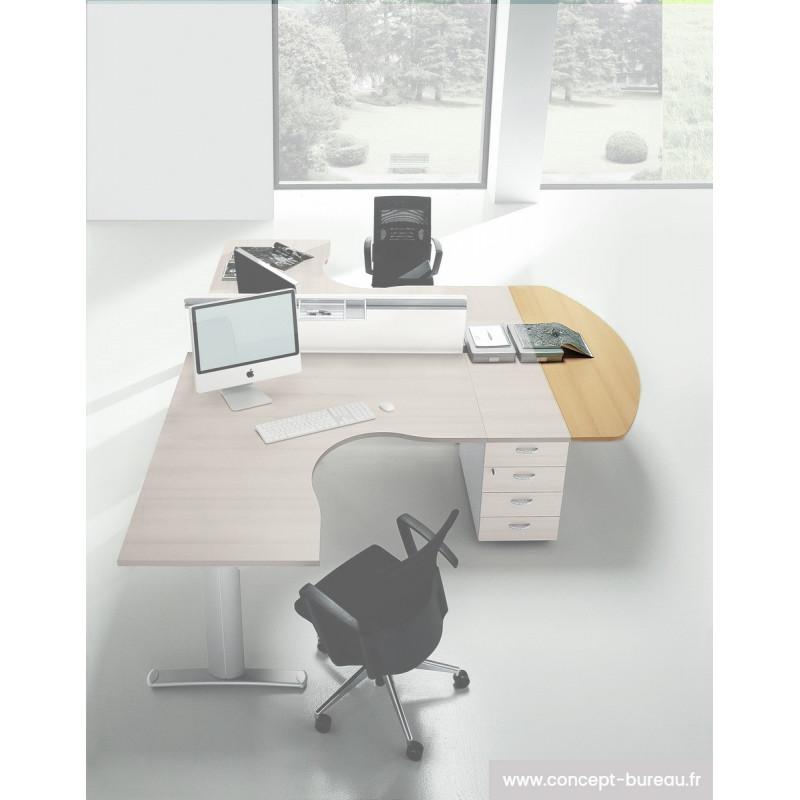 Extensions 1/2 lune pour 2 bureaux individuels PRIMUM