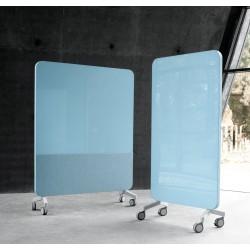 Cloison mobile acoustique et magnétique GLASS