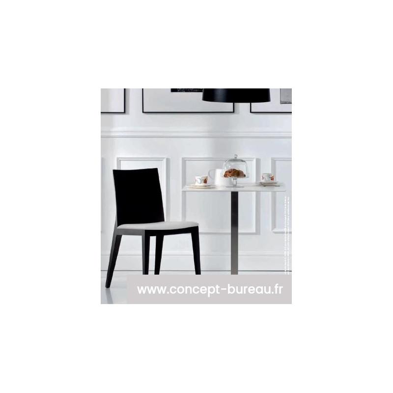 Chaise de restaurant TWIG - ambiance finition chêne wengé