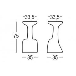 Tabouret design haut de bar SIENI
