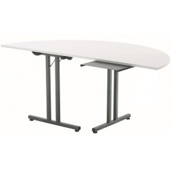 Table demi lune d'extrémité pliante CHIDAY