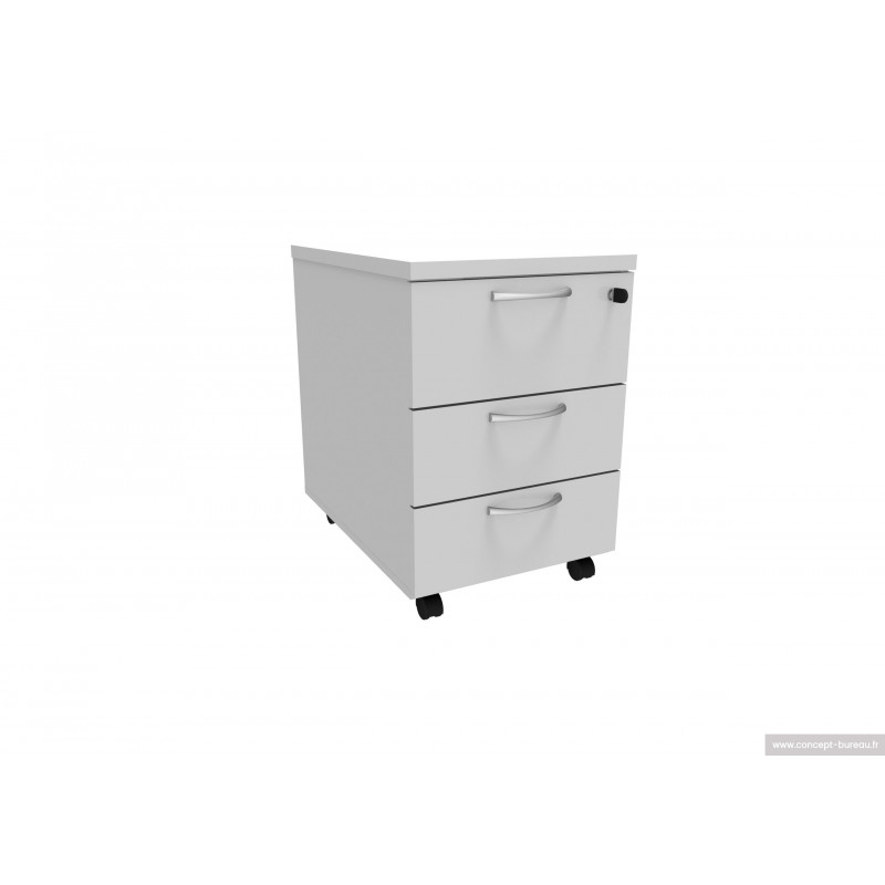 Caisson mobile 3 tiroirs bosc - Caisson mobile de bureau 3 tiroirs ...