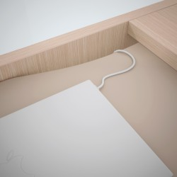 Bureau design avec retour en bois CELESTE