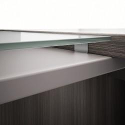 Bureau design avec retour en verre CELESTE