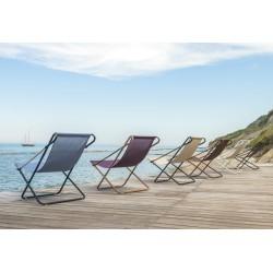 Chaise de détente violet,gris,noir,noisette