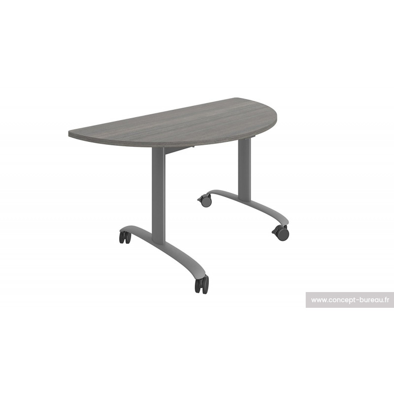 Table à plateau rabattable demi-lune USSY