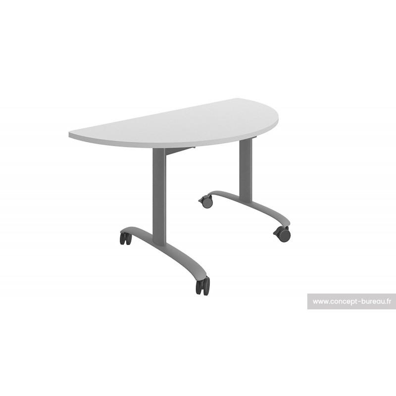 Table rabattante en position horizontale et verticale sécurisées