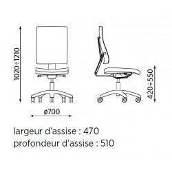 Fauteuil de travail design DARGA