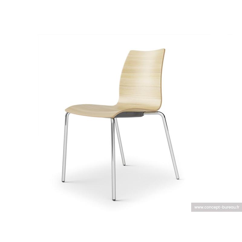 Chaise de restaurant coque bois - KAFETTE