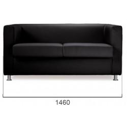 Canapé 2 places coloris noir