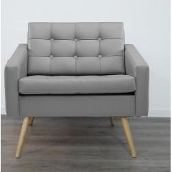 Canapé d'accueil avec piétement en bois