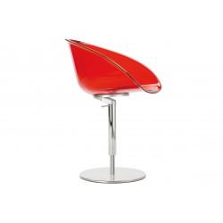 Chaise avec coque en polypro GLISS pied corolle