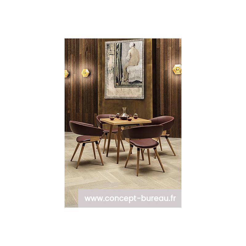 Chaise avec coque en bois RONDA