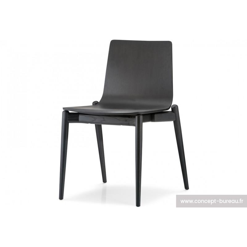 Chaise avec coque en bois Campus