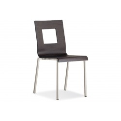 Chaise avec coque en bois KUADRA