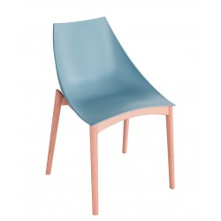 Chaise avec coque en bois HOOPLA