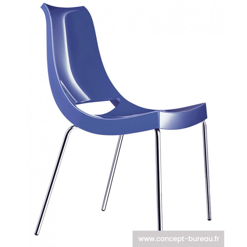 Chaise avec coque en polypro Chiacchiera