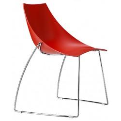 Chaise avec coque en polypro Hoop