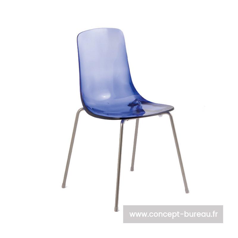 Chaise avec coque en polypro Pauline 3